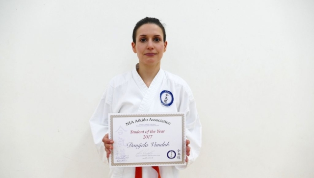 NIA aikido student of the year 2017 award