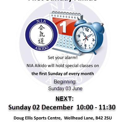 Sunday Aikido Class – 2nd December
